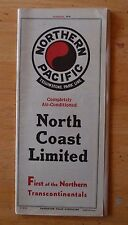 Vtg Train Times Table Northern Pacific Yellowstone Park Line North Coast 1936