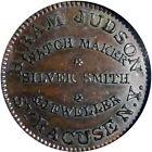 1838 Syracuse New York Hard Times Token Hiram Judson NGC Rare This Nice