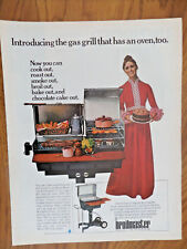 1970 Broilmaster Grill Ad  Introducing the Gas grill that Has an Oven