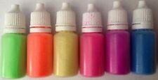 6x cosméticos cuerpo brillo Acolchonadas Botella Brillo Tatuajes Pintura de cara Henna Neons
