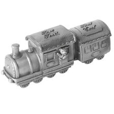 Christening Gift Pewter Locomotive 1st Tooth & Curl Set