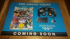 Super Smash Brothers Brawl For Wii U and Special Edit Controller Display Poster