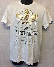 Adidas Mens A99030 G WF Lable White T-shirt Brand New Size Medium