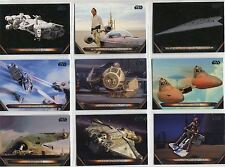 Star Wars Galactic Files Reborn Complete Vehicles Chase Card Set V1-20