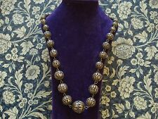 Beautiful Antique Art Deco;Finely Crafted Gilded Solid Silver Filigree Necklace