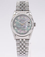 Rolex 36mm Datejust 16234 Men's w/ Mother of Pearl Diamond Dial & Jubilee Band