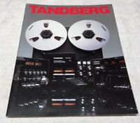 TANDBERG REEL AMP PRE TUNER ORIGINAL COLOR PRODUCT BROCHURE M299