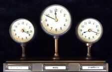 Pottery Barn Around the World 3 Time Zone Desk Mantle Clock