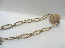 Victorian Brass Ceiling Light Hook Chandelier Hanger Rose Bracket Chain Antique