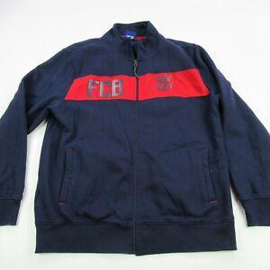 FCB Barcelona Barca Jacket XL Qatar Foundation Short Sleeve Unicef Blue Red