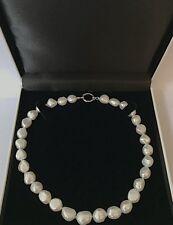 Naturale Reale Mare Bianco Barocco Collana di perle