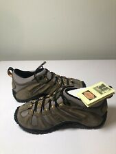 Merrell Chameleon Stretch Kangaroo Boa Hiking Shoes Size 7 Gray Tan Vibram Soles