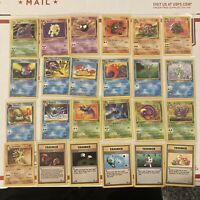 Lot Of 24 Vintage Fossil Pokemon Cards From 1999 W/ One Holo & Six 1st Edition