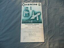 publicité  CORAMINE sur carton médicament