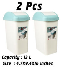 Uniware P289-12 (2Pcs)  Plastic Step Trash Can with Swing-Top ,12 Litre