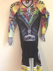 Pactimo Cycling Speedsuit Skinsuit Triathlon Sz Med M ZOOT Zipz Shoes