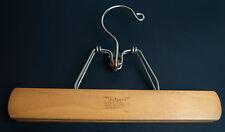 "Vintage SETWELL Hard Wood  Trouser Pants Skirt Wooden Clamp Hanger 10"""