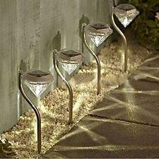 4PCS LED Solar Powered Diamonds Lawn Light Pathway Garden Stake Lamp