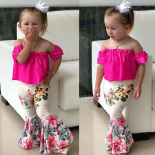 Toddler Baby Girls T-shirt Tops+Floral Pants Outfits Fashion Summer Clothes Set