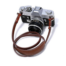 Canpis Leather Camera Shoulder Neck Strap w/ Shoulder Pad for Mirrorless Brown