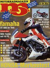 mo 5/84 1984 EML Honda CX 500 Kawasaki TTC 250 Yamaha SR 500 XT 600 Fantic 80