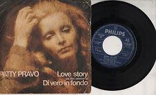 PATTY PRAVO disco 45 giri MADE in ITALY  Love Story + Di vero in fondo 1971