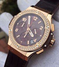 HUBLOT Big Bang Tutti Frutti Brown Camel Automatic Diamond Ladies Watch