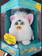 Hasbro Tiger Electronic Furby Babies with Tags 70-940 1999 white with pink ears.