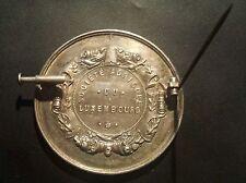 LUXEMBOURG - Médailles argent 19e Amélioration Races Chevalines Belgique /Cheval