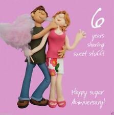 Holy Mackerel Anniversary Greeting Card 6 6th Years Sugar