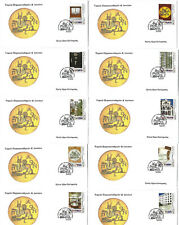 Greece 2019 - 100 Years Deposit & Loan Fund 10 Fdc's from booklet Unofficial
