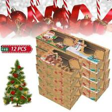 Set of 12 Christmas Candy Cookie Boxes Bakery Gift Boxes Cupcake Muffin Cake Box