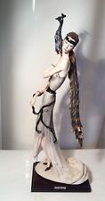 "Giuseppe Armani Figurine ""Lady With Peacock"""