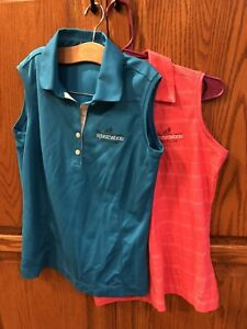 Nike Ladies Golf Shirt Size Small Dri-Fit Size 0 2 4 Logo Sleeveless