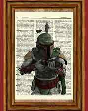 Boba Fett Star Wars Dictionary Art Print Book Picture Poster Collectible Gift