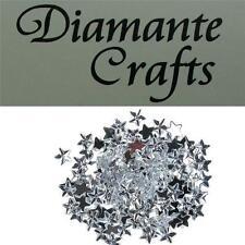 150 x 10mm Clear Diamante Loose Stars Flat Back Rhinestone Craft Embellishments