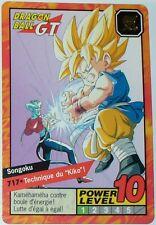 CARTE DRAGON BALL GT N-¦ 717 SONGOKU  POWER LEVEL 10 VERSION FRANCAISE