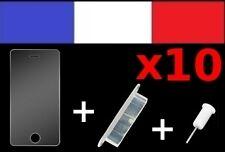 x10 LOTS BLANCS anti-poussière + 10 FILM DE PROTECTION D'ECRAN iphone 4 4s cache