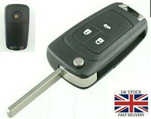 Opel 3 Button Remote flip key Case Astra Mokka Insignia Corsa Zafira Fob UK