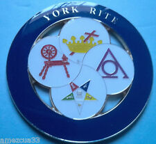 Ladies Of The York Rite Masonic Cut Out Car Emblem