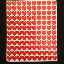 350 x Red Heart Stickers 15 mm Valentine Wedding Scrapbook