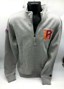 New Starter 1/4 Zip Sweatshirt Men Gray Los Angeles Wildcats XFL Football