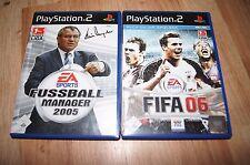 fifa06 + fussball manager 2005 PS2 Playstation games spiele deutsch edition