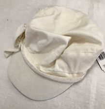 Womens Girls Ivory Conductor Hat Side Bow Velour August Accessories