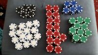 12gm Clay Poker Chips Multi-listing Dice Design 5 Different Colours lots of 10