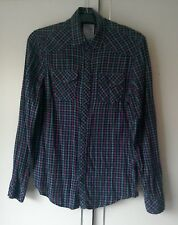 """River Island """"Supreme"""" Long Sleeved Checked Cotton Shirt - Size """"Small""""."""