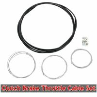 Universal Motorcycle Scooter Cable Kit Clutch Brake Throttle Cable Harness Set