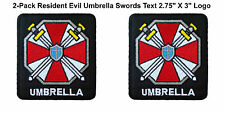 "Resident Evil Movie 2-Pack 2.75"" X 3"" Umbrella Corp Iron/Sew-on Patch Zombies"