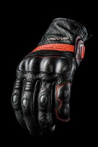 Motorcycle Glove Real Carbon Fiber Five Glove Black Leather Sport City S Men