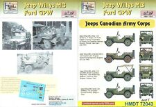 H-Models Decals 1/72 Willys MB / Ford GPW Jeep - Canadian Armoured Corps Jeeps